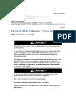 Válvula de Alívio (Tubulação) - Teste e Ajuste