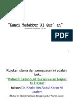 Kunci Tadabbur Al-Quran