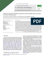 Evolution of Porosity, Shrinkage and Density of Pasta Drying_2011