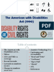 the american with disabilities act
