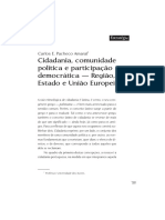 Cidadania, Comunidade Política e Participação Democrática