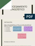 Procesamiento Lingüístico