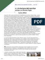 El Lector y La Lectura Del Escritor. Entrevista con Ricardo Piglia