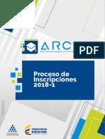 Manual Arca Proceso de Inscripciones 2018 1
