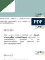 Interacionismo Simbólico e Etnometodologia