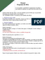 Manual Do MSA