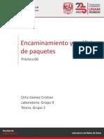 Laboratorio Redes de Datos - Práctica 06