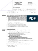 josh bax resume 10-16-17