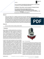 [Autex Research Journal] Analysis and Comparison of Thickness and Bending Measurements From Fabric Touch Tester (FTT) and Standard Methods