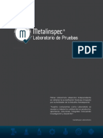 Catálogo Metalinspec Laboratorio de Pruebas