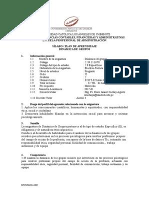 Spa Dinamica De Grupos Administracion 2017 1 Doc Toma De