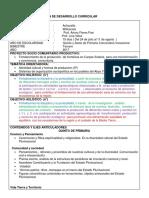 Plan de Desarrollo Curricular Prof Lina 2017