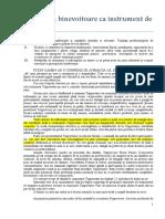 Atitudinea Binevoitoare CA Instrument de Influenţă
