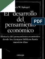 El Desarrollo Del Pensamiento Economico- H.W. Spiegel
