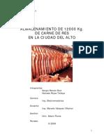 Almacenamiento de 12000 Kg de Carne de Res