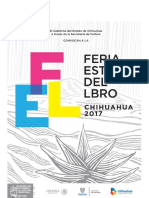 Convocatoria Feria Estatal Del Libro Chihuahua 2017