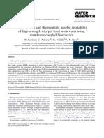 Thermophilic Aerobic Treatability