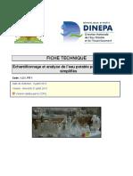 1.3.1 FIT1 Echantillonnage Et Analyse de l Eau Potable