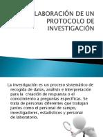 Expocicion Elaboración de Un Protocolo de Investigación