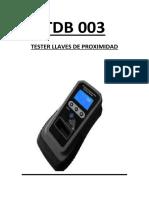 TDB003 Manual Spanish