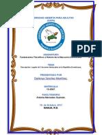 Trabajo Final de Fundamentos Filosoficos e Historia de La Educacion Dominicana.