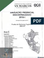 Examen Simulacro - San Marcos 2018-I Area C.pdf