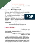 EJEMPLOS Carta, Solicitud, Oficio, Acta, Informe..