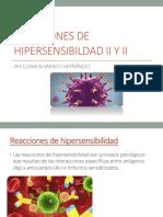 Reacciones de Hipersensibildad II y II