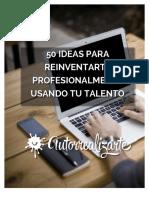 50 Ideas Para Reinventarte Profesionalmente Usando Tu Talento Alvaro Lopez