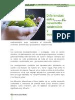 El Desarrollo Sostenible y El Sustentable