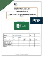 Lab 10 Excel 2013 Proyecto de Aplicación