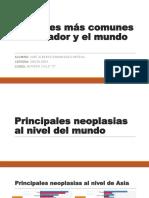 Canceres Más Comunes en Ecuador