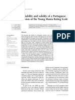 Reliability and Validity of a Portuguese Version of the Young Mania Rating Scale