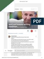 El Papa Ora Por Los Desempleados y Por Las Condiciones No Dignas en Los Trabajos