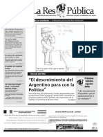 Revista República  - descreimiento en política (Edicion8)