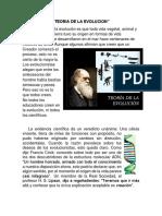Teoria de La Evolucion & Creacion