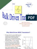 607 Lect 8 Bulk Driven Circuits 2009