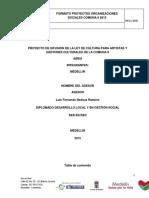 Proyecto de difusión de la ley de cultura para artistas y gestores culturales de la comuna 9