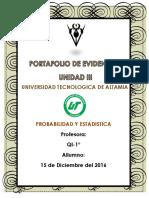 Portafolio de Evidencias PROBABILIDAD Y ESTADISTICA