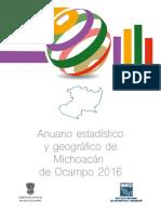 Michoacán, anuario estadistico 2016