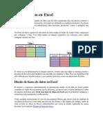 Base de Datos en Excel