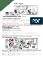 Análise Tirinha Mafalda SUJEITO