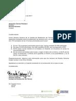 Carta Alejandro Santos