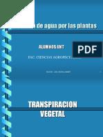 Transpiracion Vegetal
