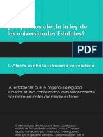 Ppt Ley de Universidades Estatales