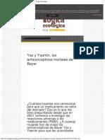 Yaz y Yasmin, Los Anticonceptivos Mortales de Bayer - Lógica Ecológica