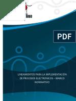 Procedimientos Administrativos Electronicos Marco Normativo