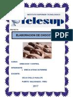 Proyecto de Elaboracion de Chocotejas