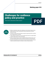 Challenges for Resilience Policy and Practice