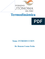 TERMODINAMICA INTRODUCCION